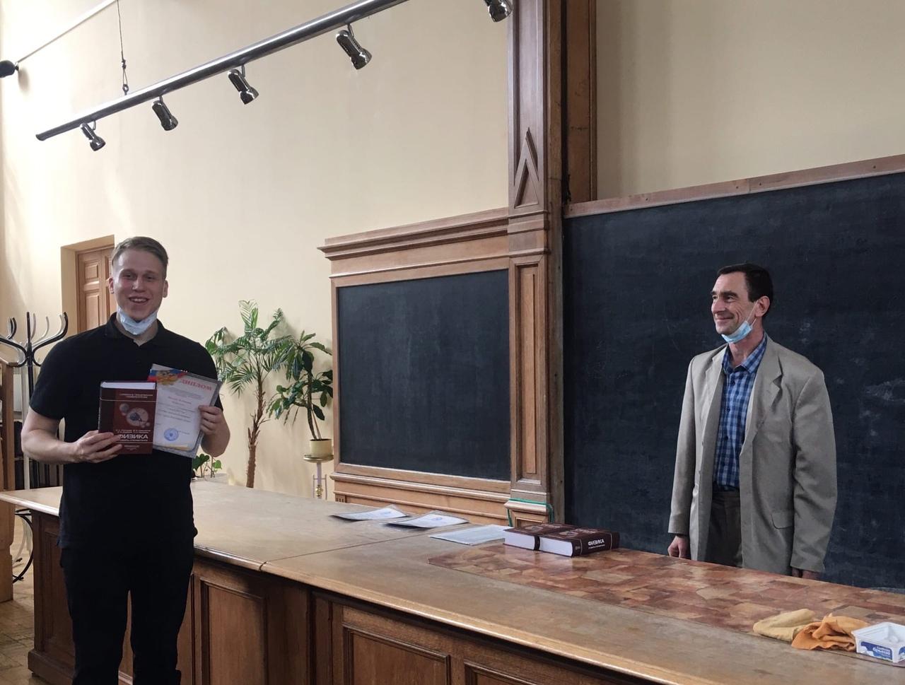Гольдберг Артемий Александрович. VI-я Политехническая Олимпиада по физике, второе место